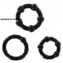 Set anillos erector con perlas negro